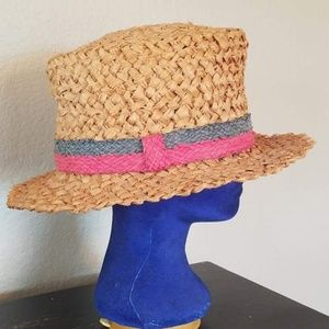 Vintage straw hat. Great swimsuit accessory.